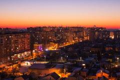 Winter cityscape Stock Image