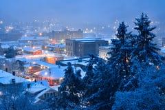 Winter cityscape, Harlan Kentucky Royalty Free Stock Photos