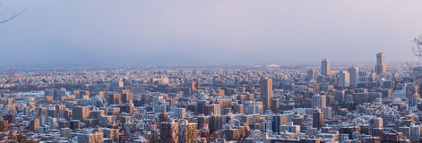 Winter cityscape of Sapporo Stock Images