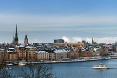 Winter cityscape of Stockholm Royalty Free Stock Image