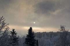 Winter cityscape Royalty Free Stock Photo