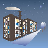 Winter cityscape. Royalty Free Stock Images