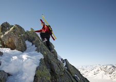 Winter climber stock images