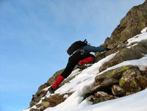 Winter climbing Royalty Free Stock Photography