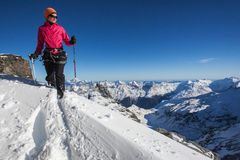 Winter climbing Stock Photo
