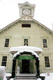 Winter clock tower Stock Photo