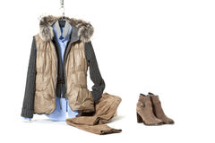 Winter clothes Stock Photography