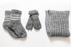 Winter clothes and accessories Royalty Free Stock Photo