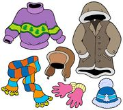 Winter clothes collection 2 vector illustration