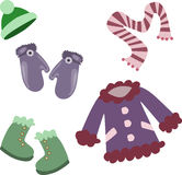 Winter clothes collection Royalty Free Stock Image