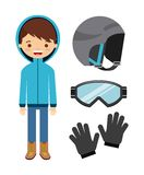 Winter clothes design Royalty Free Stock Photo