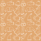 Winter clothes pattern Royalty Free Stock Images