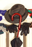 Winter clothes on a radiator. Royalty Free Stock Photos