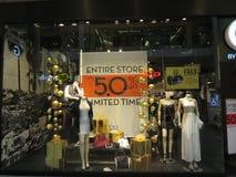 Winter clothes sale stock photo