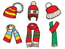 Winter clothes. Santa stocking cap Stock Image