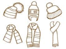 Winter clothes. Santa stocking cap Royalty Free Stock Photos