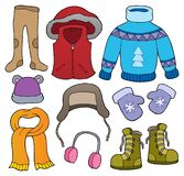 Winter clothes topic set 2. Eps10 vector illustration royalty free illustration