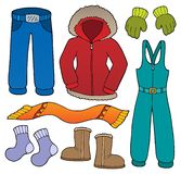 Winter clothes topic set 1. Eps10 vector illustration vector illustration