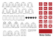 Winter clothesand clothes icon Stock Photography