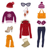Winter clothing Royalty Free Stock Images