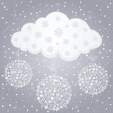 Winter cloud Royalty Free Stock Photos