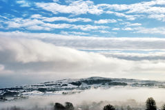 Winter Cloud And Mist Stock Photography