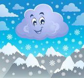 Winter cloud theme image 2 Royalty Free Stock Photo