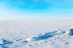 Winter cloudy landscape Royalty Free Stock Photography
