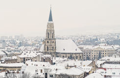 Winter in Cluj Napoca Stock Photography
