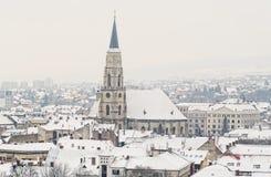 Winter in Cluj Napoca. Cluj Napoca winter cityscape from Romania, Transsylvania Stock Photography