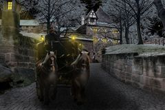 Winter, Coach, Castle, Cold Royalty Free Stock Image