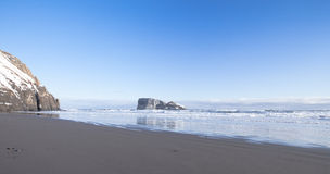 Winter coast of Pacific ocean on Kamchatka Stock Images