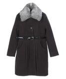 Winter coat. Isolated on white Stock Photos