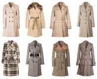 Winter Coats Cutout Royalty Free Stock Images