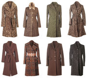 Winter Coats Cutout Royalty Free Stock Photos