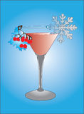 Winter cocktail Stock Image