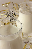 Winter cocktail at a christmas party royalty free stock photography