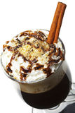Winter Cocktail - Hot Chocolate with Rum Stock Photography