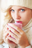 Winter coffee Royalty Free Stock Photo