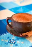 Winter coffee with cinnamon. Sticks royalty free stock photos
