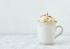 Winter coffee with cream Royalty Free Stock Image