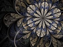 Winter cold fractal flower. Abstract fractal flower in cold winter colours Royalty Free Stock Photos