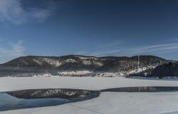 Winter cold morning near Palcmanska Masa reservoir royalty free stock photos