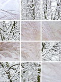 Winter collage Royalty Free Stock Images