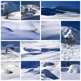 Winter collage. A collage of photos about winter time Royalty Free Stock Image