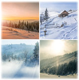 Winter collage Royalty Free Stock Photos