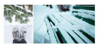 Winter collage Stock Image
