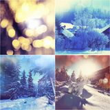 Winter collage Royalty Free Stock Photography
