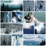 Winter collage Stock Images