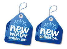 Winter collection labels. Royalty Free Stock Photography